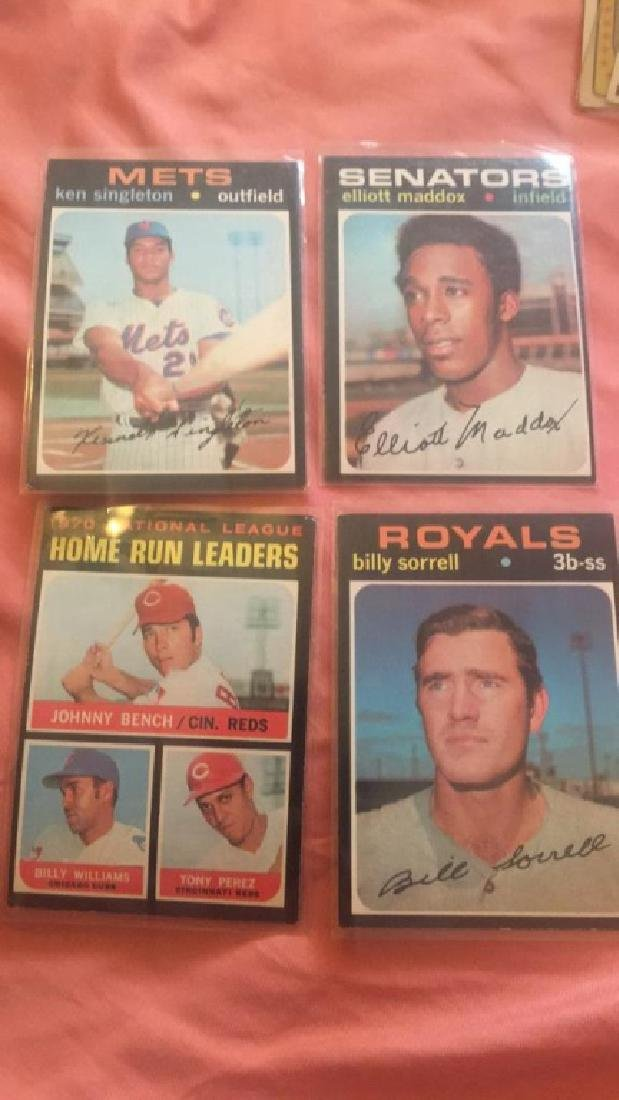 1971 Topps lot with Johnny Bench and more