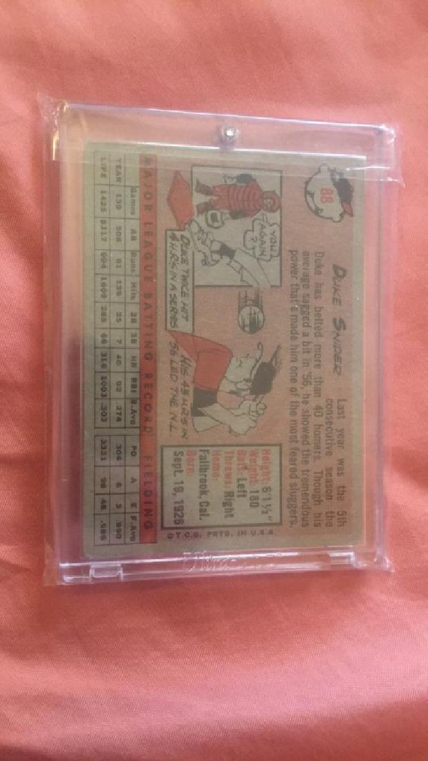 Duke Snider 1958 Topps #88 - 2