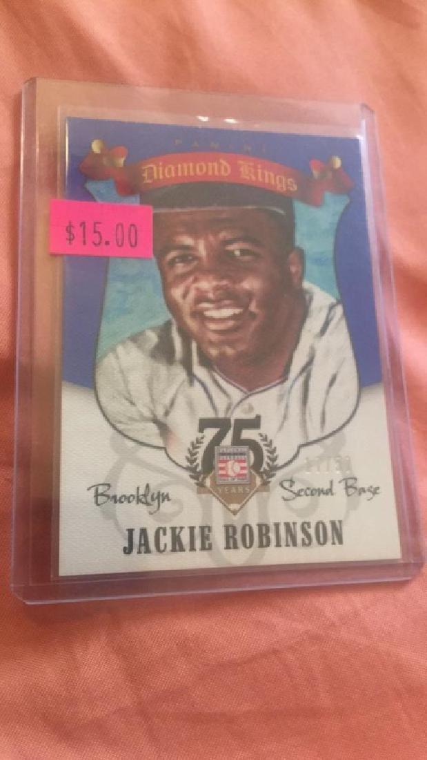 Jackie Robinson 2015 Diamond Kings blue SP /50