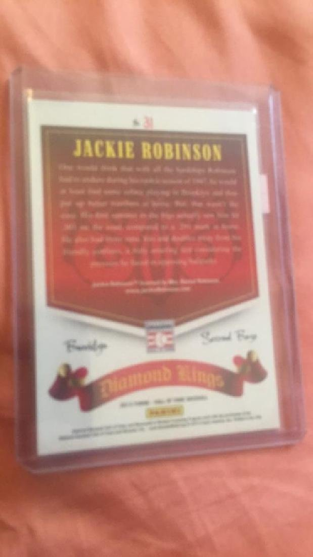 Jackie Robinson 2015 Diamond Kings blue SP /50 - 3