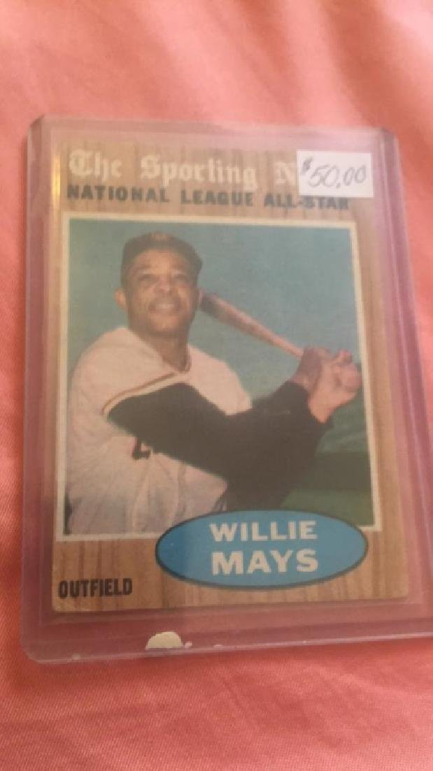 1962 Topps The Sporting News All Star Willie Mays
