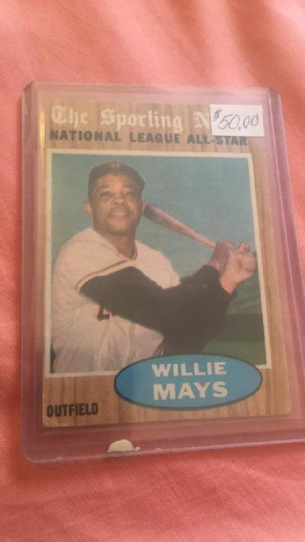 1962 Topps The Sporting News All Star Willie Mays - 2