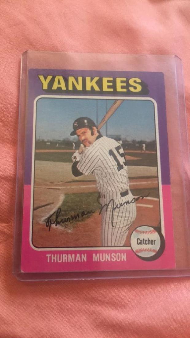 1975 Topps Thurman Munson