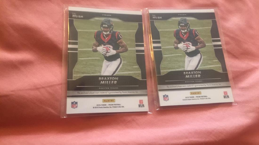 Braxton Miller 2016 Prizm Jersey lot with a pink - 2