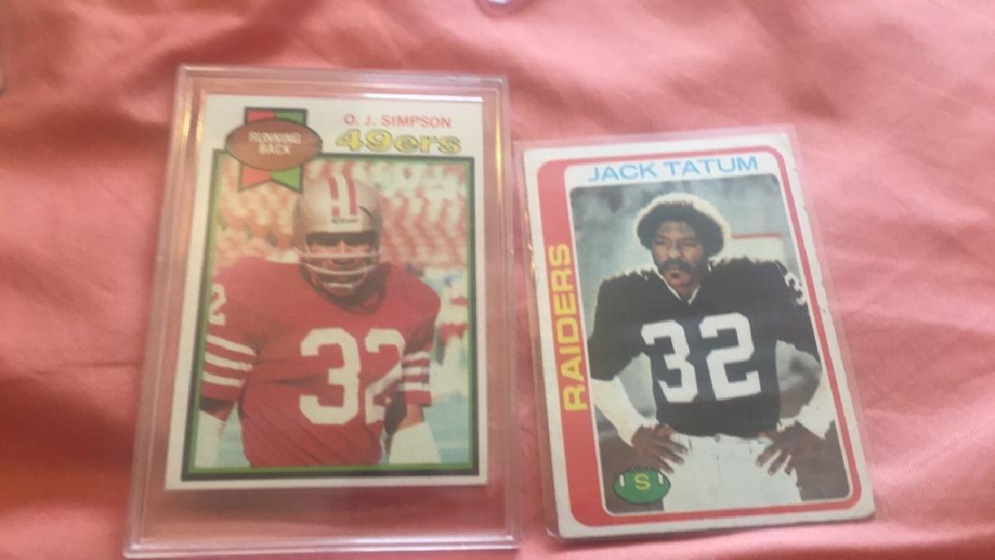 OJ Simpson 1979 card and Jack Tatum 1978 lot