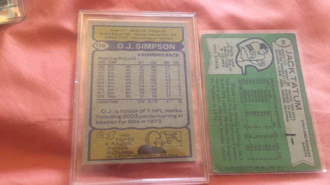 OJ Simpson 1979 card and Jack Tatum 1978 lot - 2