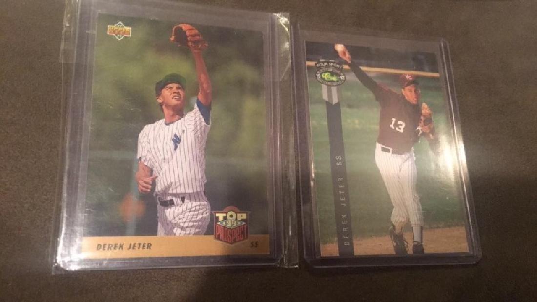 Derek Jeter RC Lot of 2 Cards