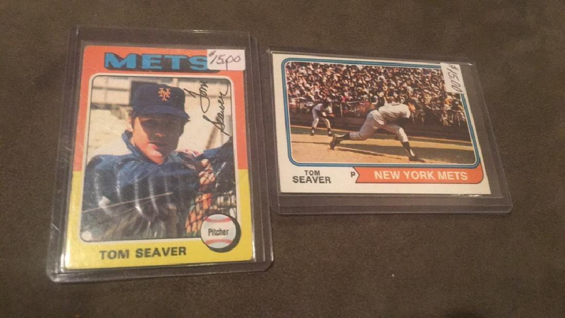 Tom Seaver 1974 and 1975 Topps lot