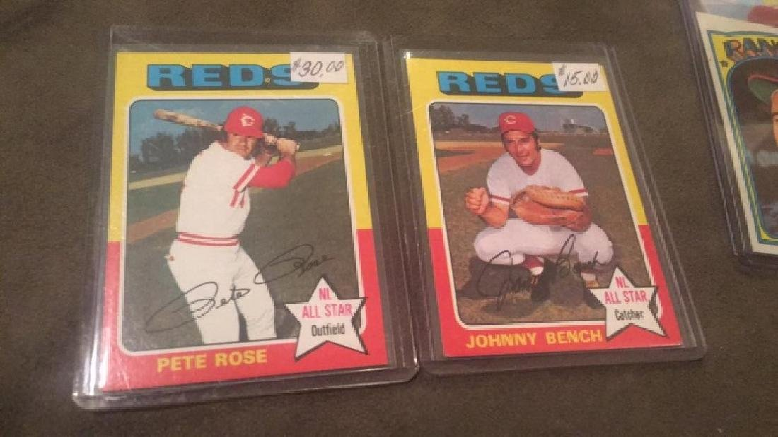 Pete Rose and Johnny Bench 1975 Topps lot nice