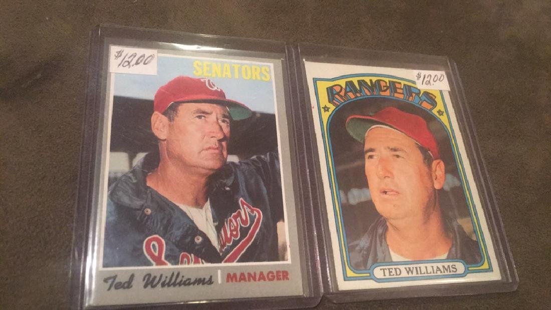 Ted Williams 1970 and 1972 Topps lot - 2