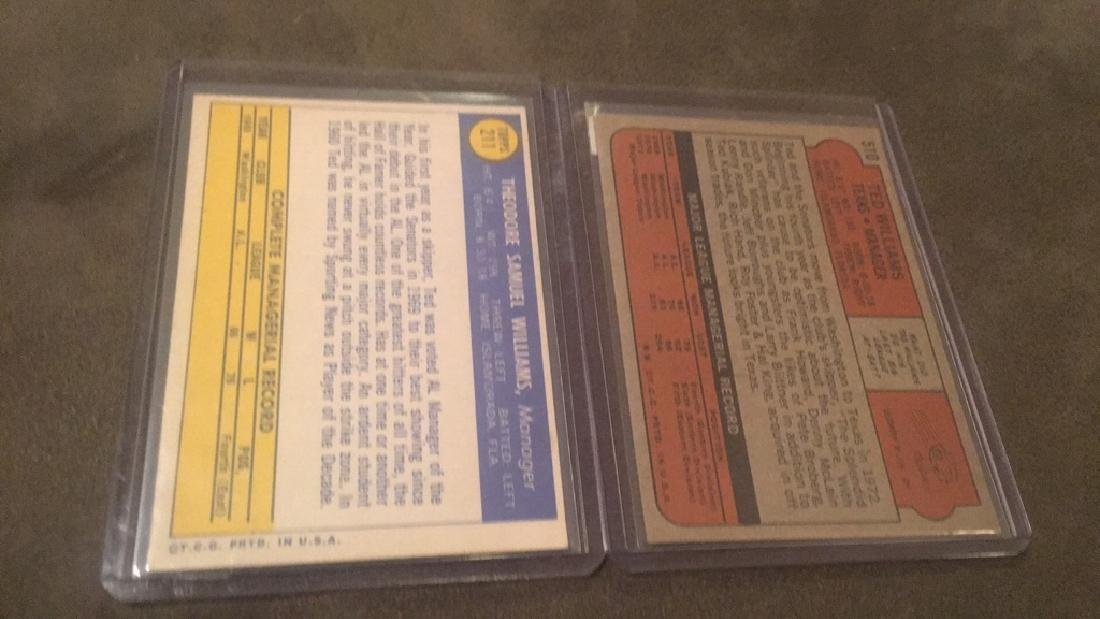 Ted Williams 1970 and 1972 Topps lot - 3