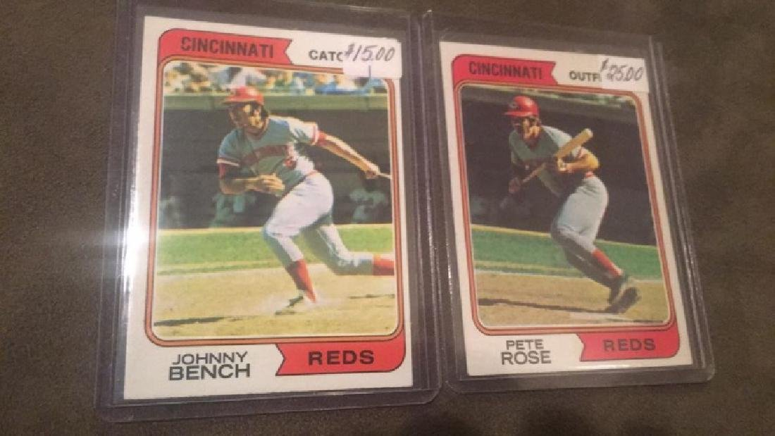 1974 Topps Pete Rose and Johnny Bench lot
