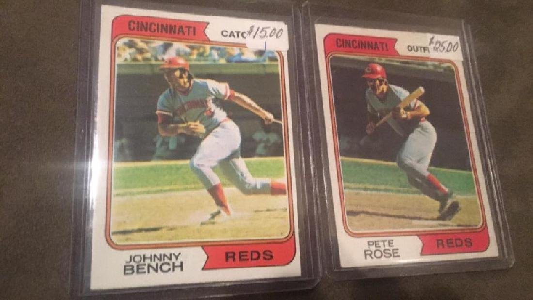 1974 Topps Pete Rose and Johnny Bench lot - 2