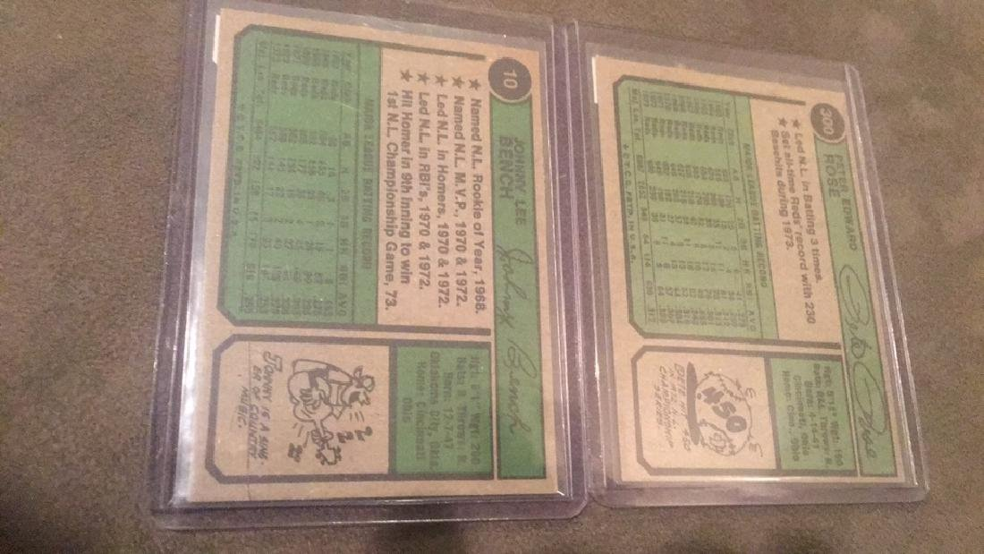 1974 Topps Pete Rose and Johnny Bench lot - 3