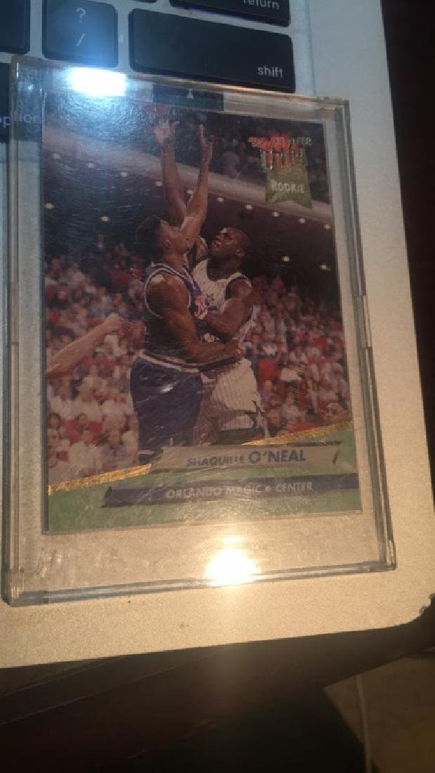 Shaquille O'Neal Fleer ultra rookie card