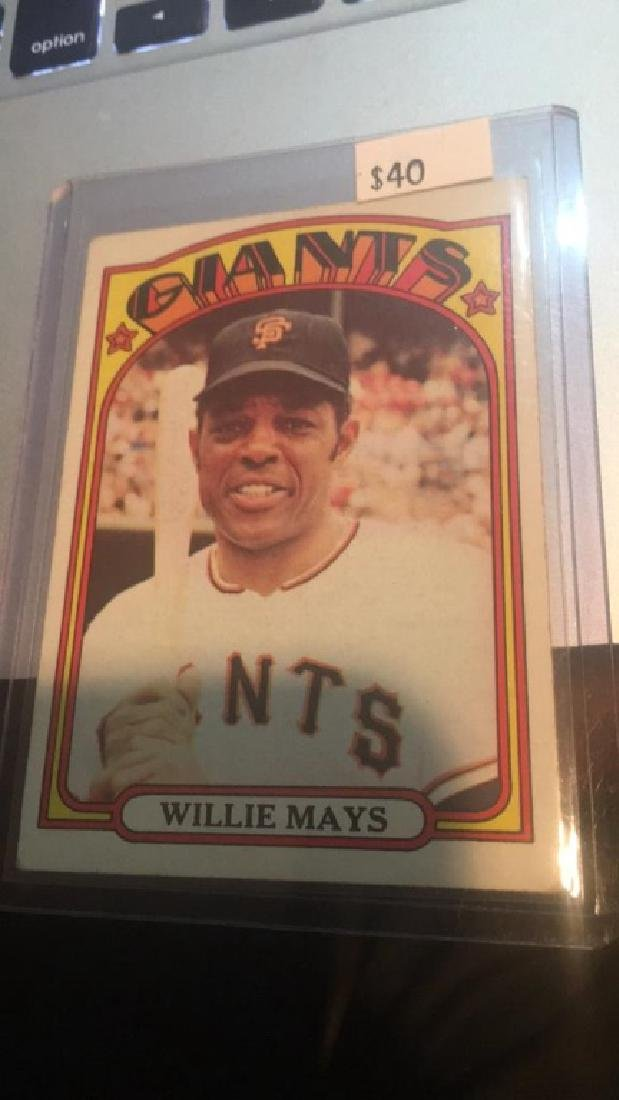 Willie Mays 1972 Topps Card nice shape