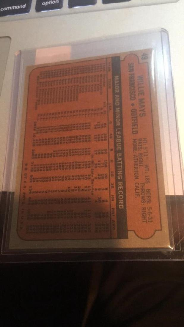 Willie Mays 1972 Topps Card nice shape - 2
