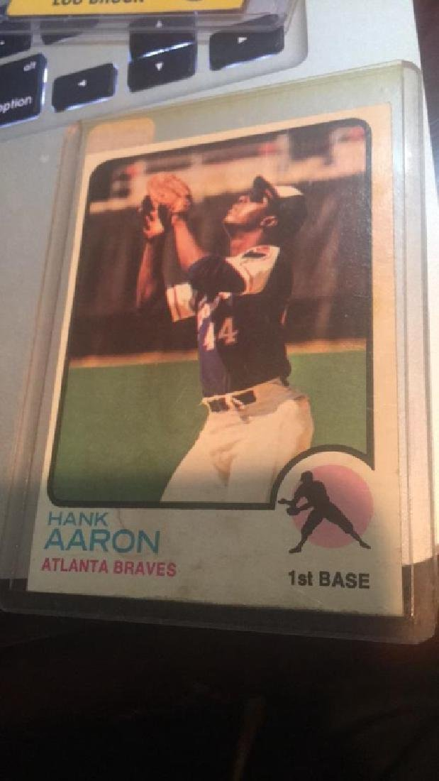 Hank Aaron 1973 Topps Card - 2