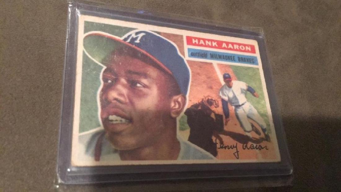 Hank Aaron 1956 Topps Card Nice Shape