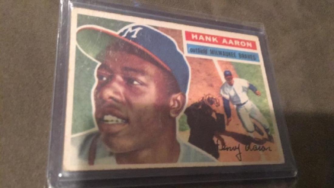 Hank Aaron 1956 Topps Card Nice Shape - 2
