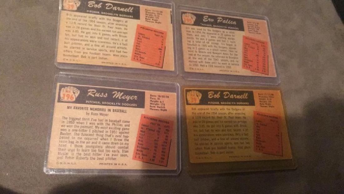 1955 Bowman lot of 4 Cards Vintage Baseball Card - 3