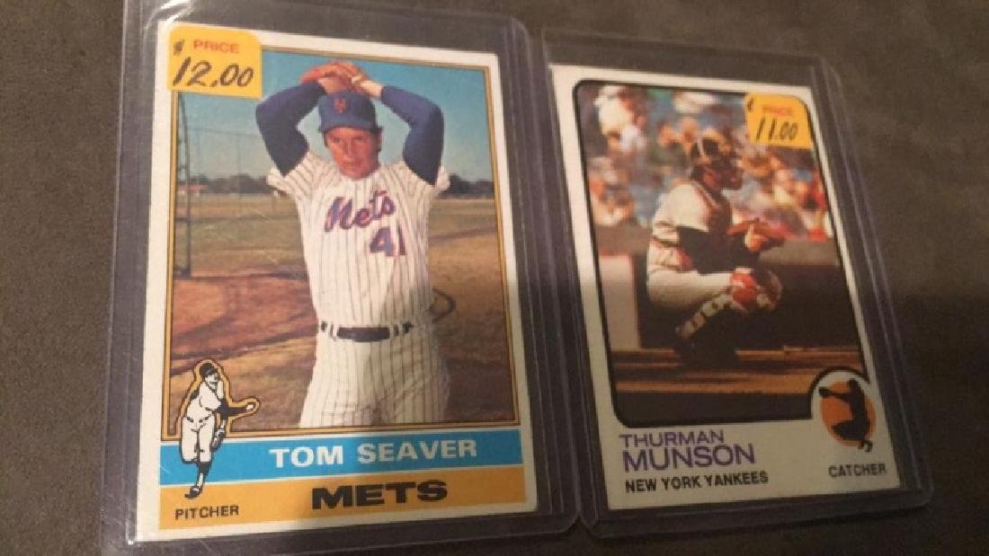 Tom Seaver and Thurman Munson 1973 and 1976 lot - 2