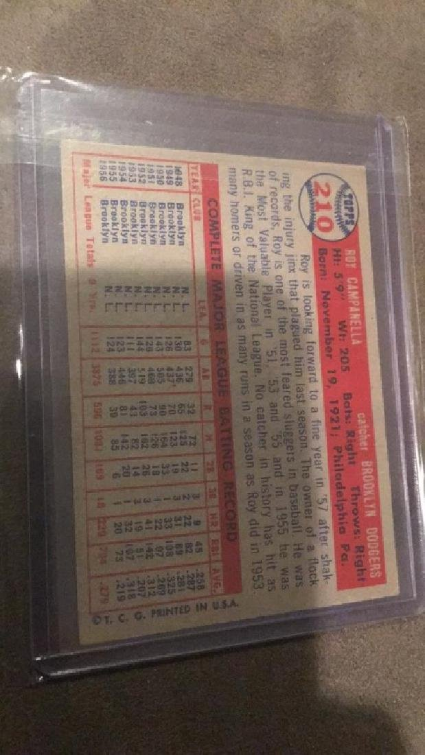 Roy Campanella 1957 Topps in Real Nice shape - 2