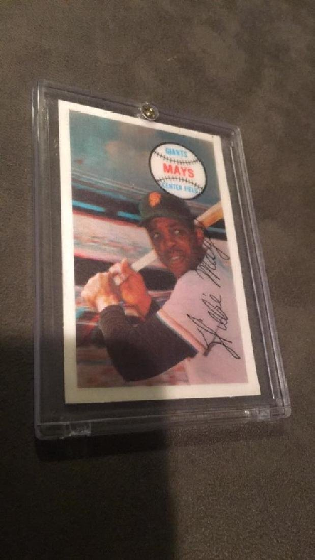 Willie Mays 1968 Xograph 3D card nice