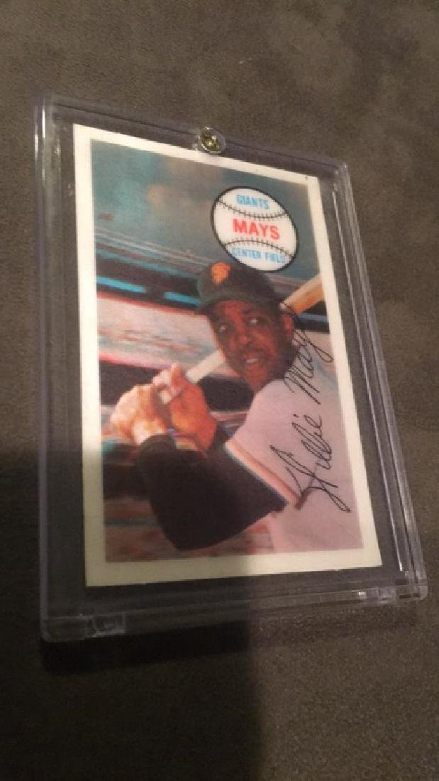 Willie Mays 1968 Xograph 3D card nice - 2