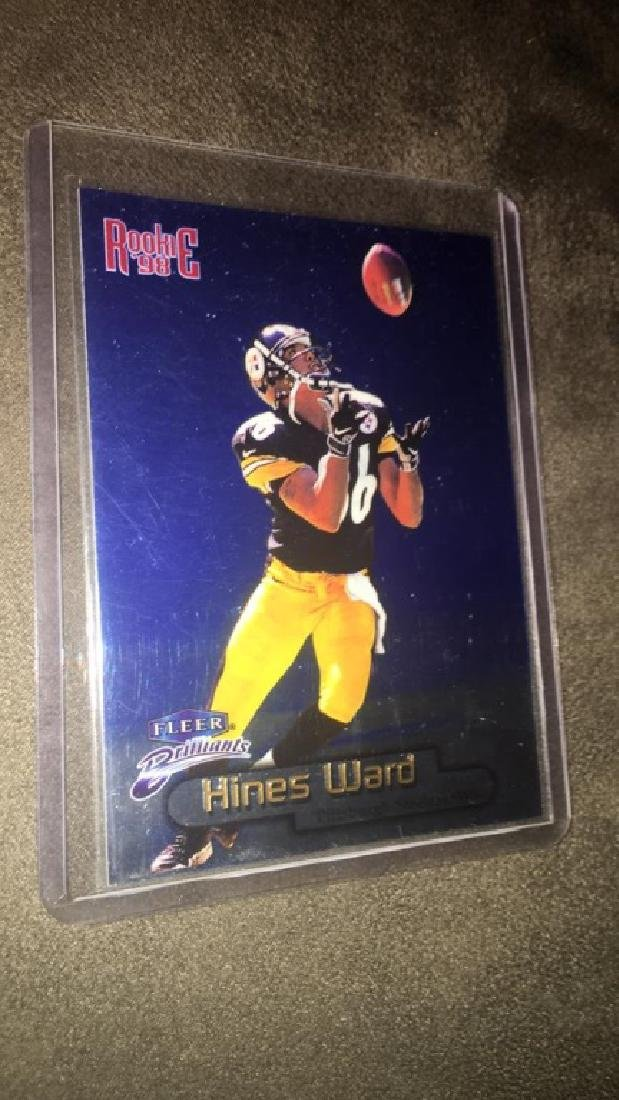 Hines Ward 1998 Fleer Brilliant blue RC SP - 2