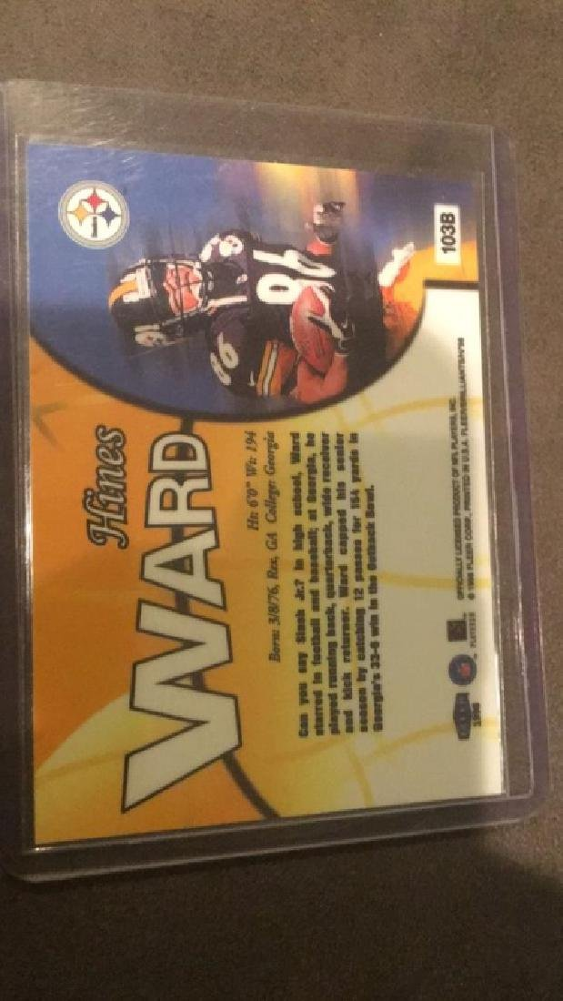 Hines Ward 1998 Fleer Brilliant blue RC SP - 3