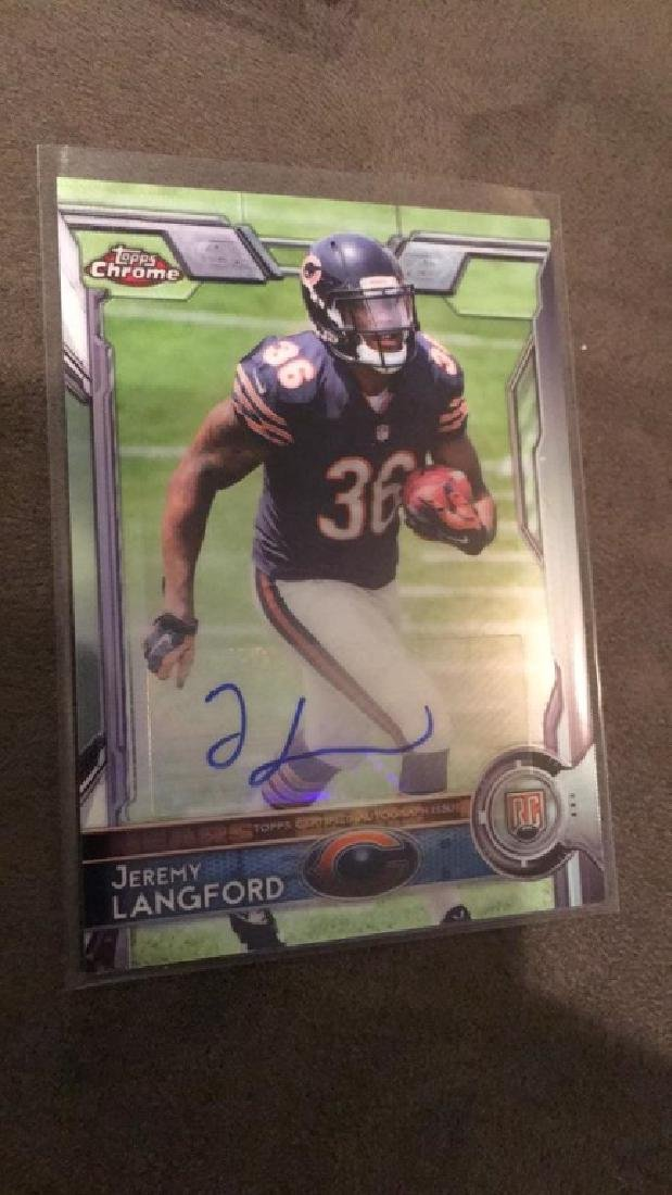 Jeremy Langford 2015 Topps Chrome Auto RC