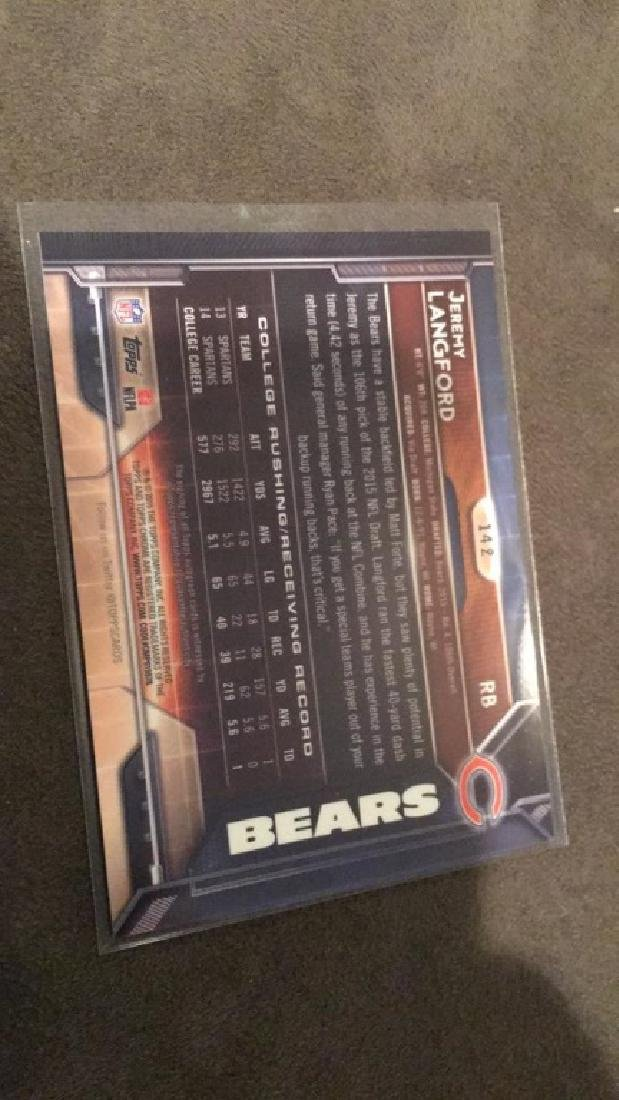 Jeremy Langford 2015 Topps Chrome Auto RC - 2