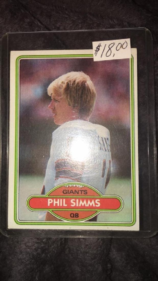 Phil Simms 1980 Topps RC