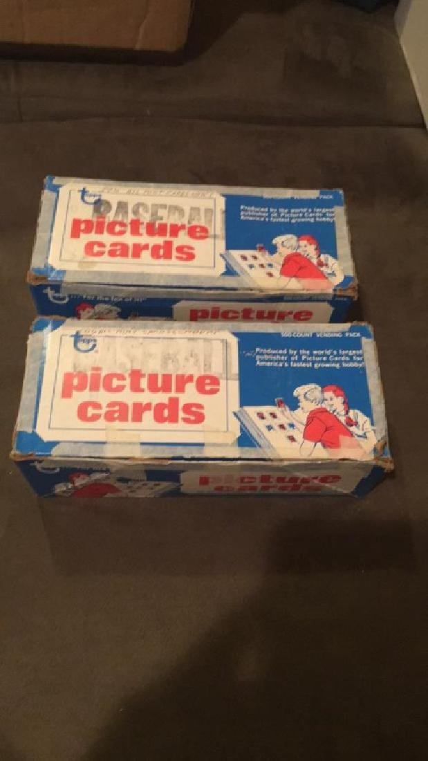 2 Mid 1980's Topps Vending Boxes UN searched