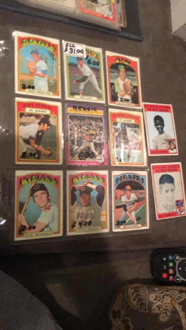 Lot of 10 1972 Topps cards with a hi number