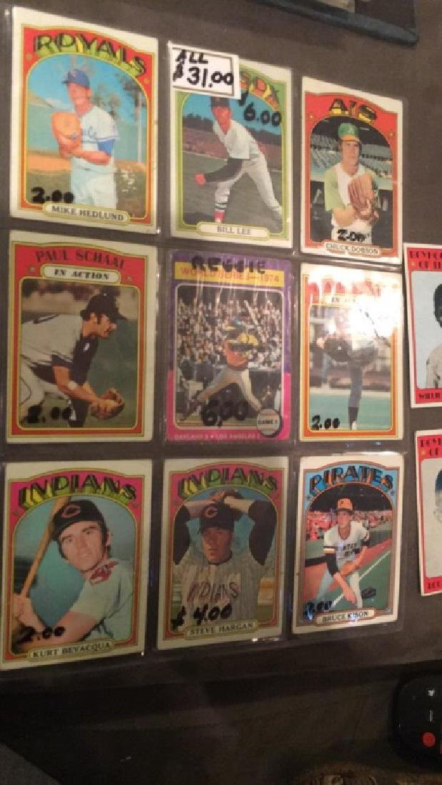 Lot of 10 1972 Topps cards with a hi number - 2