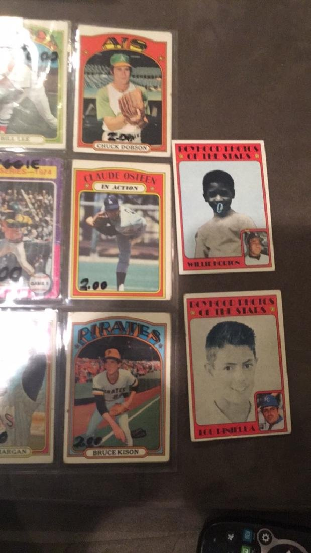 Lot of 10 1972 Topps cards with a hi number - 3