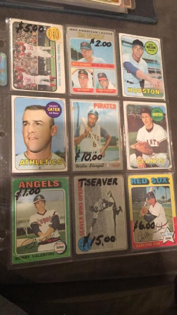 9 card vintage baseball card lot Willie Stargell