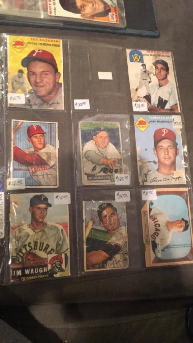 8 card 1950's vintage Baseball Card lot