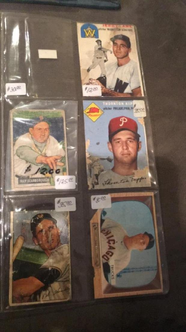 8 card 1950's vintage Baseball Card lot - 2