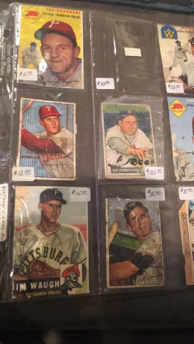 8 card 1950's vintage Baseball Card lot - 3