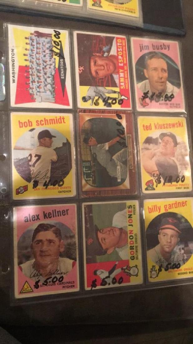 Vintage 1950s and 1960s baseball card lot