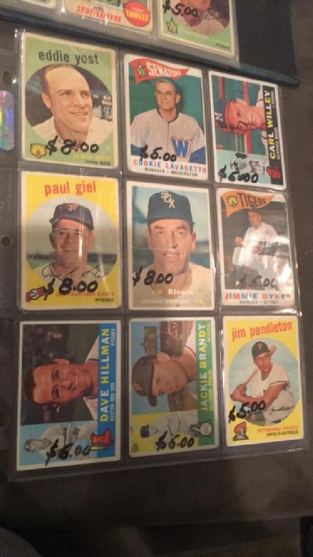 Vintage 1950s and 1960s baseball card lot nine