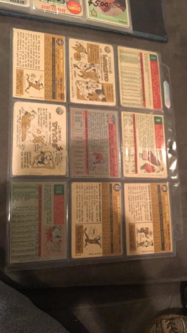 Vintage 1950s and 1960s baseball card lot nine - 3