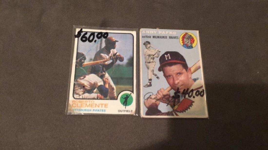 1973 Topps Roberto Clemente and 1954 Topps Andy