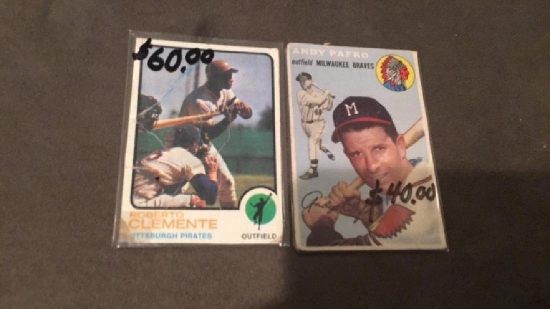 1973 Topps Roberto Clemente and 1954 Topps Andy - 2