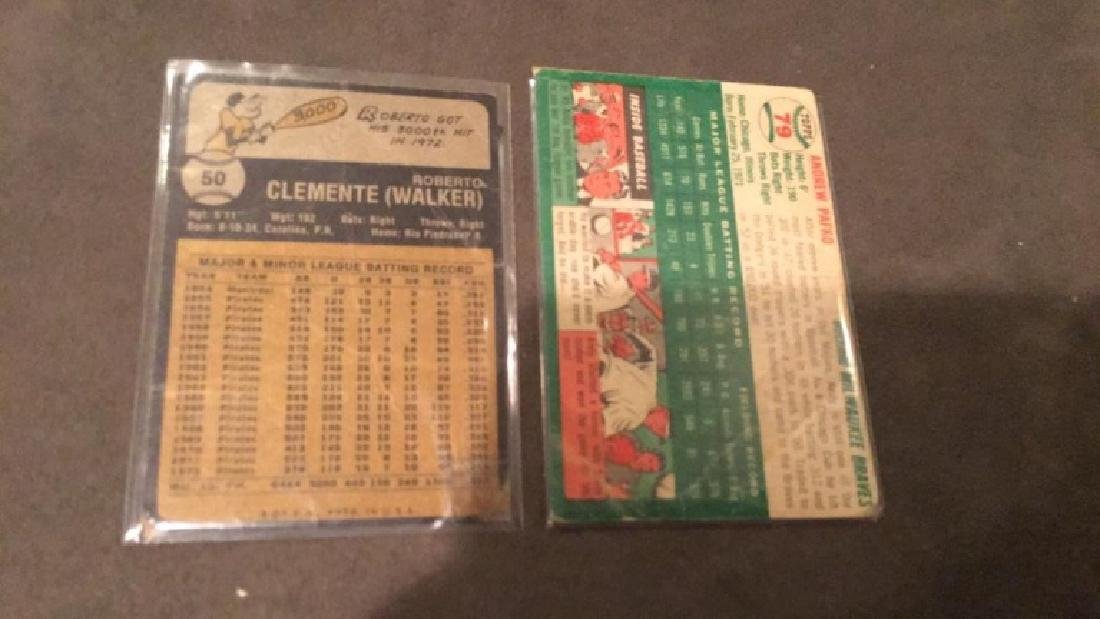 1973 Topps Roberto Clemente and 1954 Topps Andy - 3