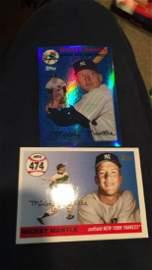 Mickey Mantle homerun card and blue homerun card