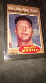 1962 Topps Mickey Mantle The Sporting News